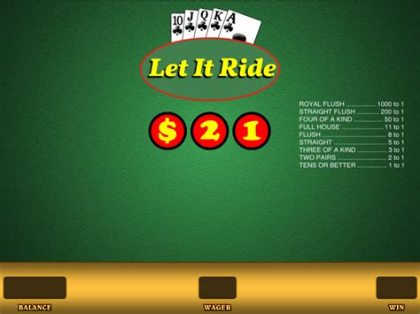 Let it Ride for Real Money or Free - Wizard of Odds