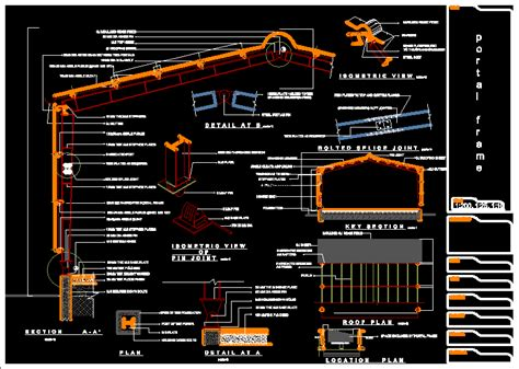 Portal frame in AutoCAD | Download CAD free (261