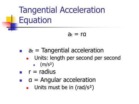 Tangential And Radial Acceleration Equations - Tessshebaylo