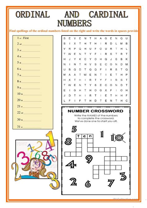 ORDINAL AND CARDINAL NUMBERS - English ESL Worksheets for