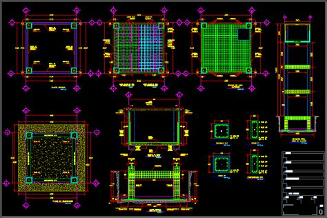 Elevated water tank structure in AutoCAD   CAD (787