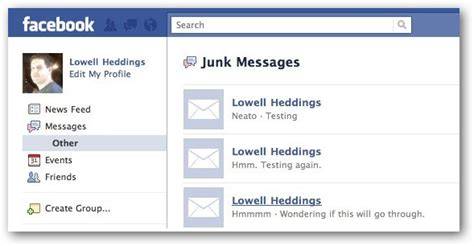 How to Check Your Facebook Messages Spam / Junk Email Folder