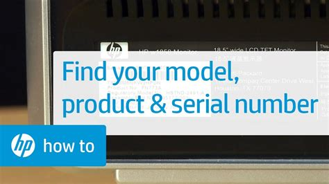 How to Find the Model, Product, and Serial Number on Your