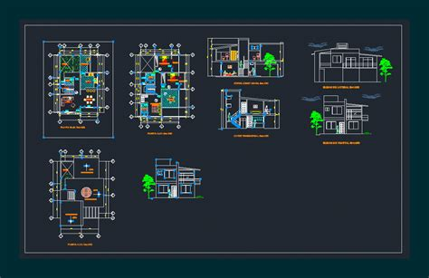 Small house in AutoCAD | Download CAD free (830