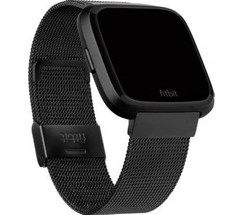 FITBIT Versa Stainless Steel Mesh Band - Black Fast