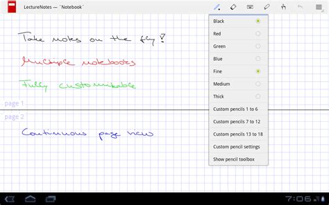 LectureNotes – Android-Apps auf Google Play